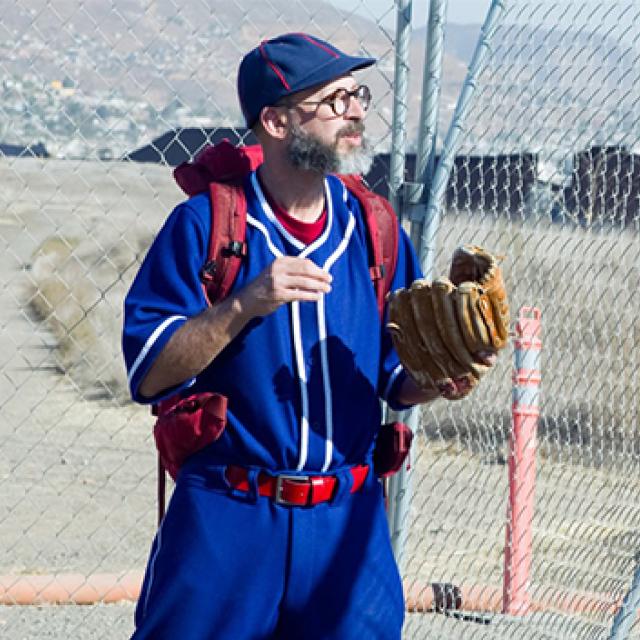 Joel Tauber in baseball uniform