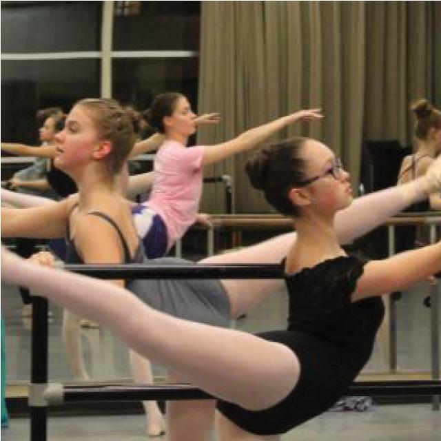 student ballet class