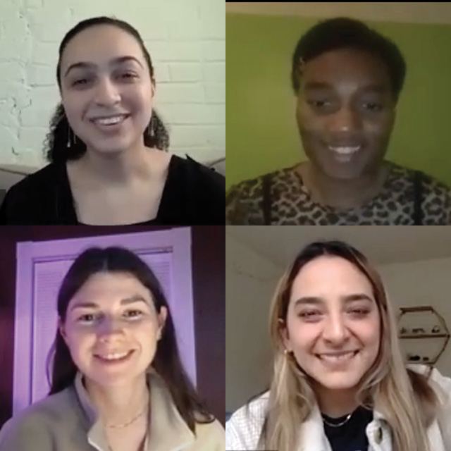 four students smiling