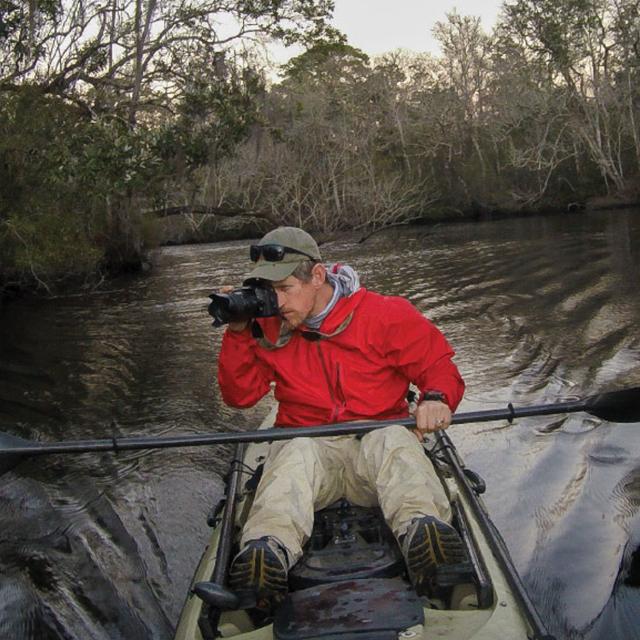 photographer in kayak