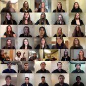 Choir singing in Zoom