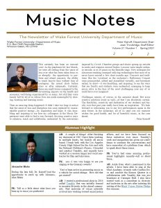 Music Notes Newsletter Cover