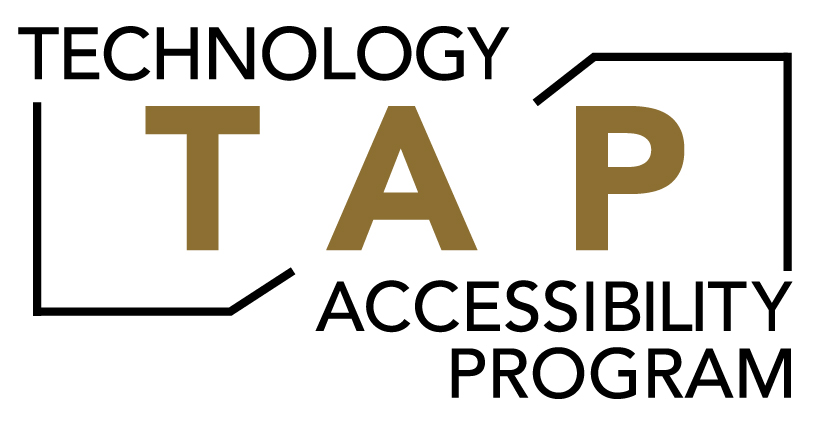 "Logo with ""Technology Accessibility Program"" written around central TAP"
