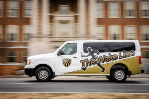 Wakeline Shuttle on campus.