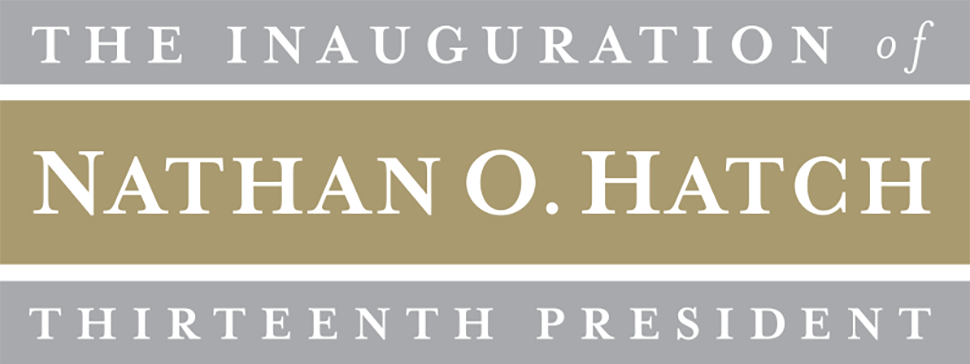 The Inauguration of Nathan O. Hatch