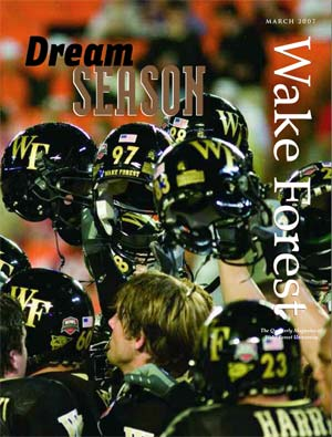 Dream Season cover: Wake Forest football helmets