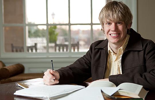 Matt Triplett studying