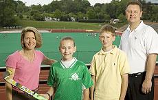 The family in front of Kentner Stadium