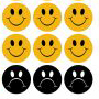 Smiling and frowning face icons