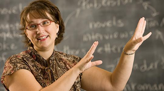 Lynn Neal in her classroom