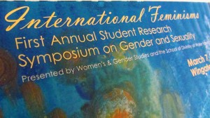 International Feminism Symposium 3-7-12