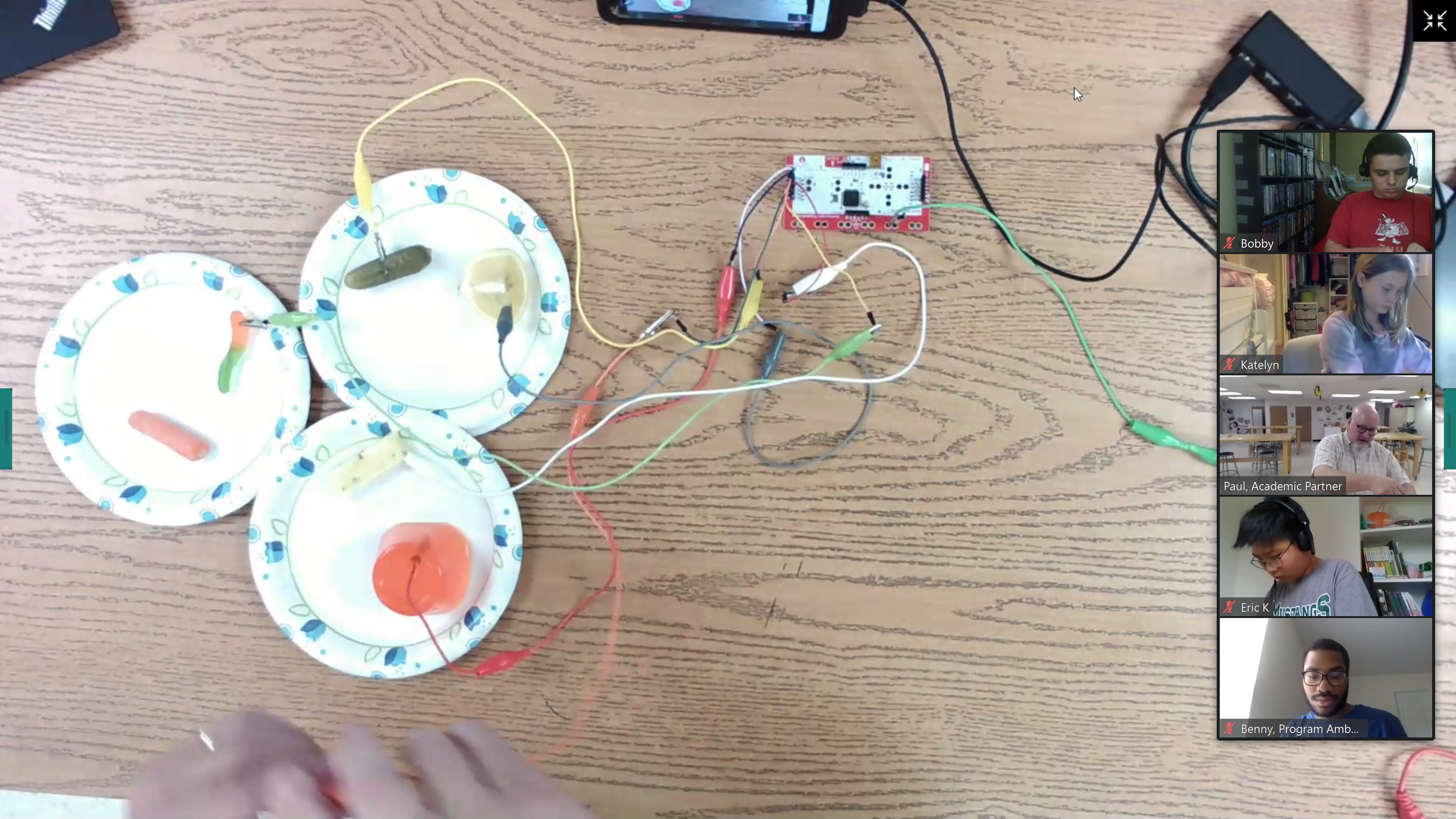 Makey Makey Lab in Which Students Learned About Energy and How You Can Power a Circuit with Items like Jello