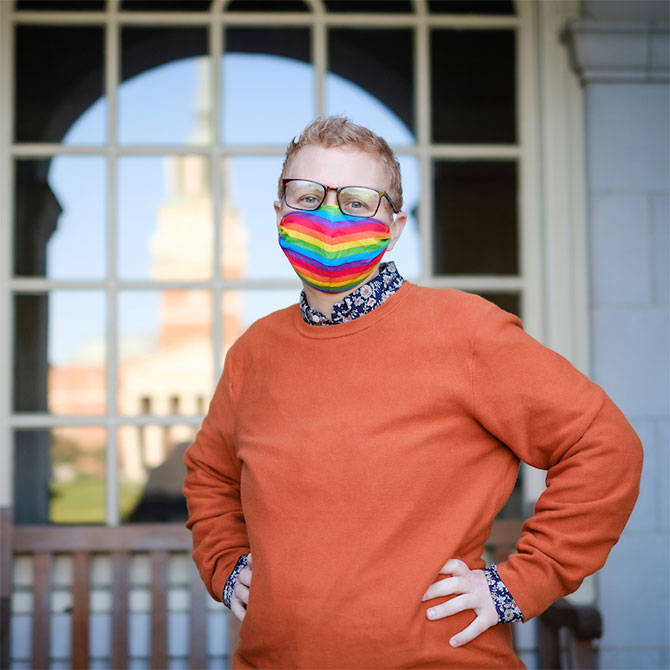 AJ Mazaris, the Assistant Vice President for Equitable Policy in the Office of Diversity and Inclusion and Director, LGBTQ+ Center at Wake Forest University