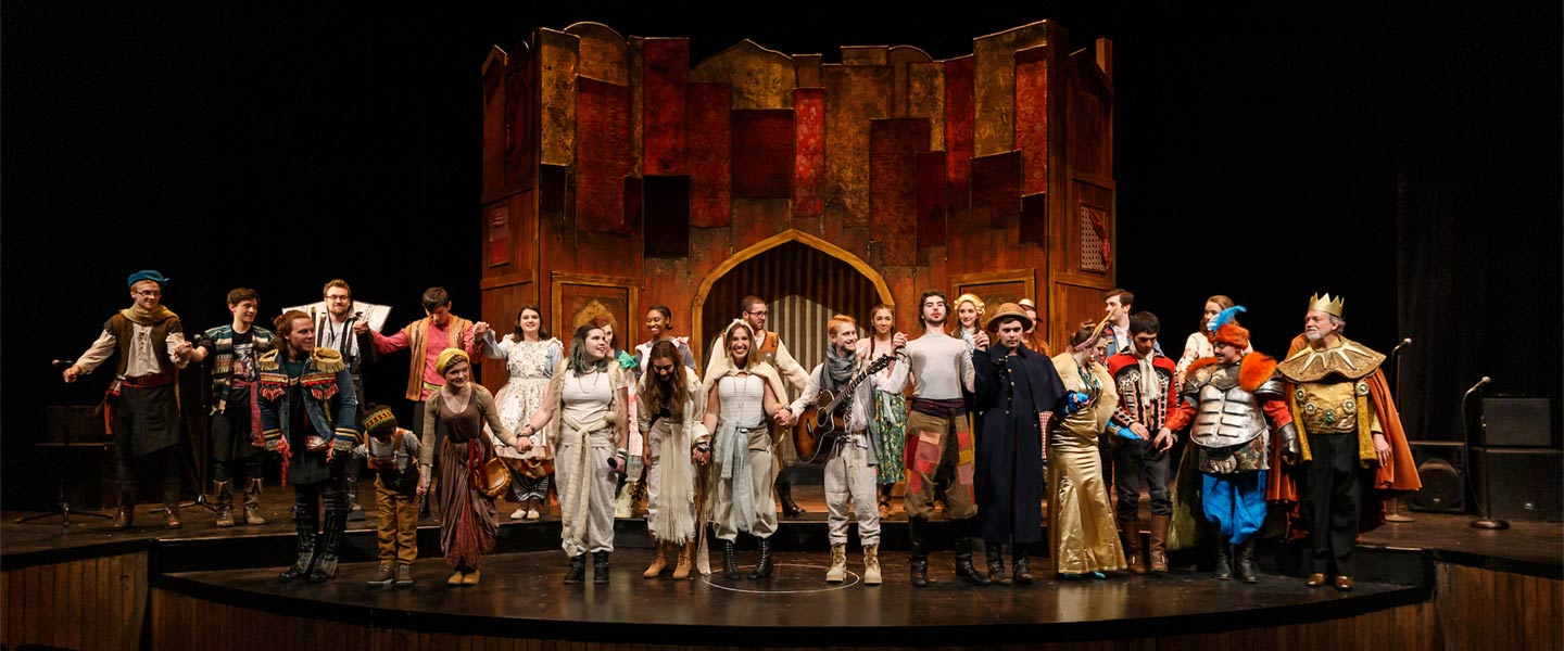 The Wake Forest Theatre production of Bertold Brecht's The Caucasian Chalk Circle