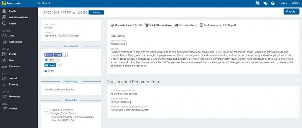 apply for job/resume