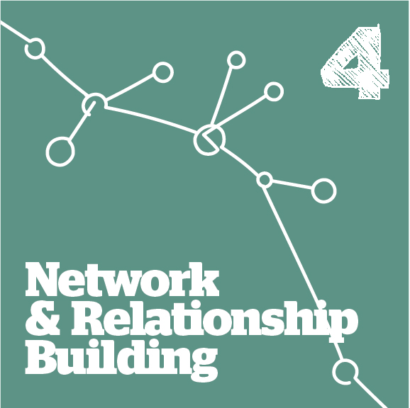 network and relationship building graphic