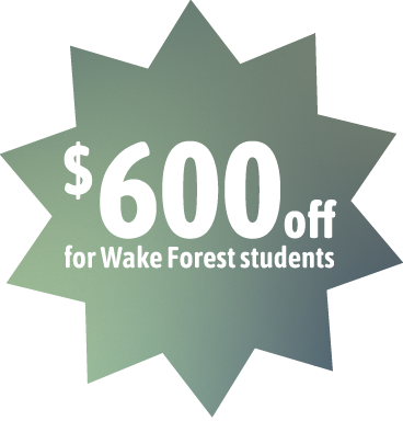 $600 off for Wake Forest students