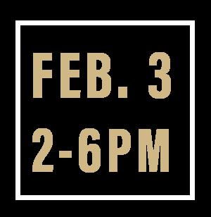 Feb. 3, 2-6pm