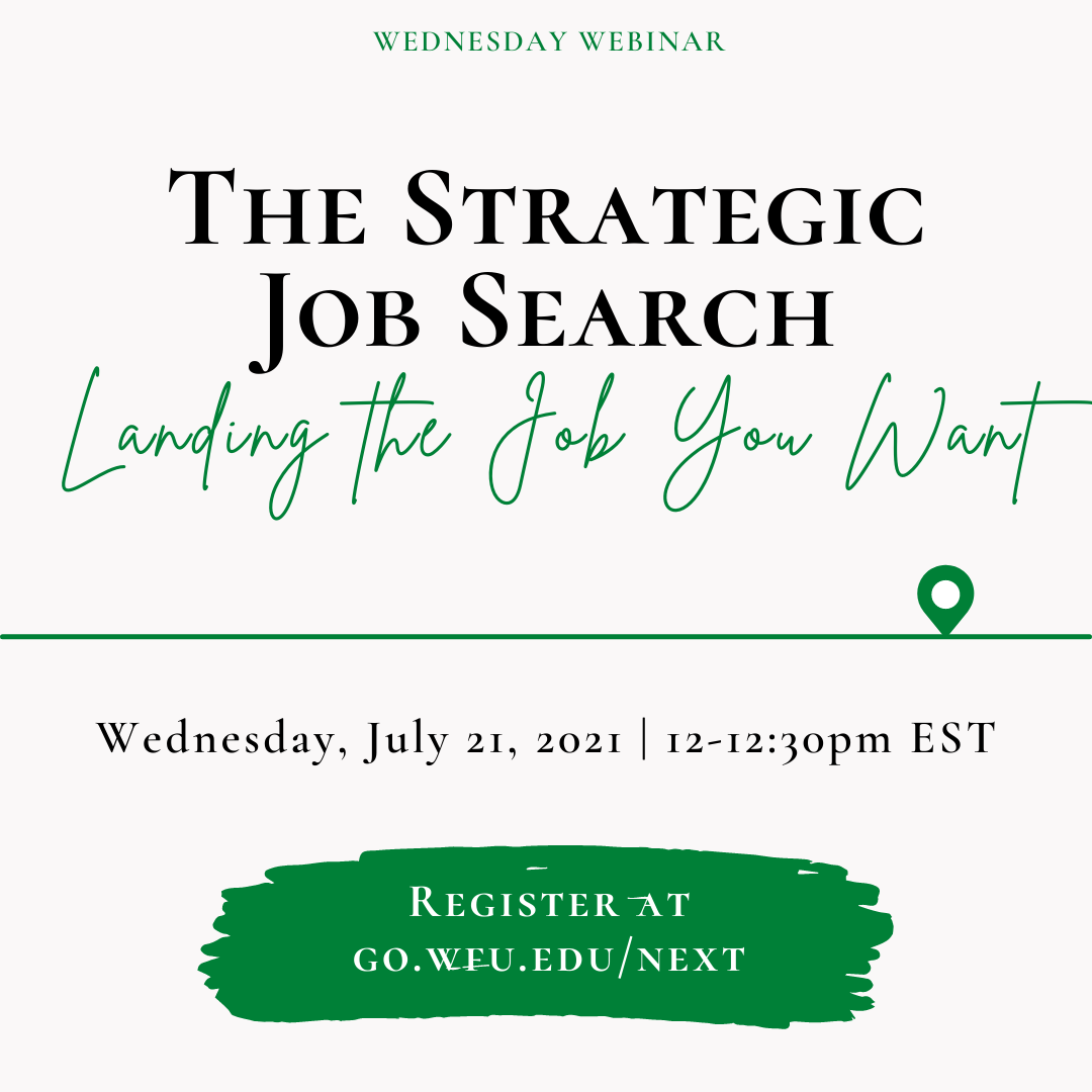 The Strategic Job Search: Landing the job you want
