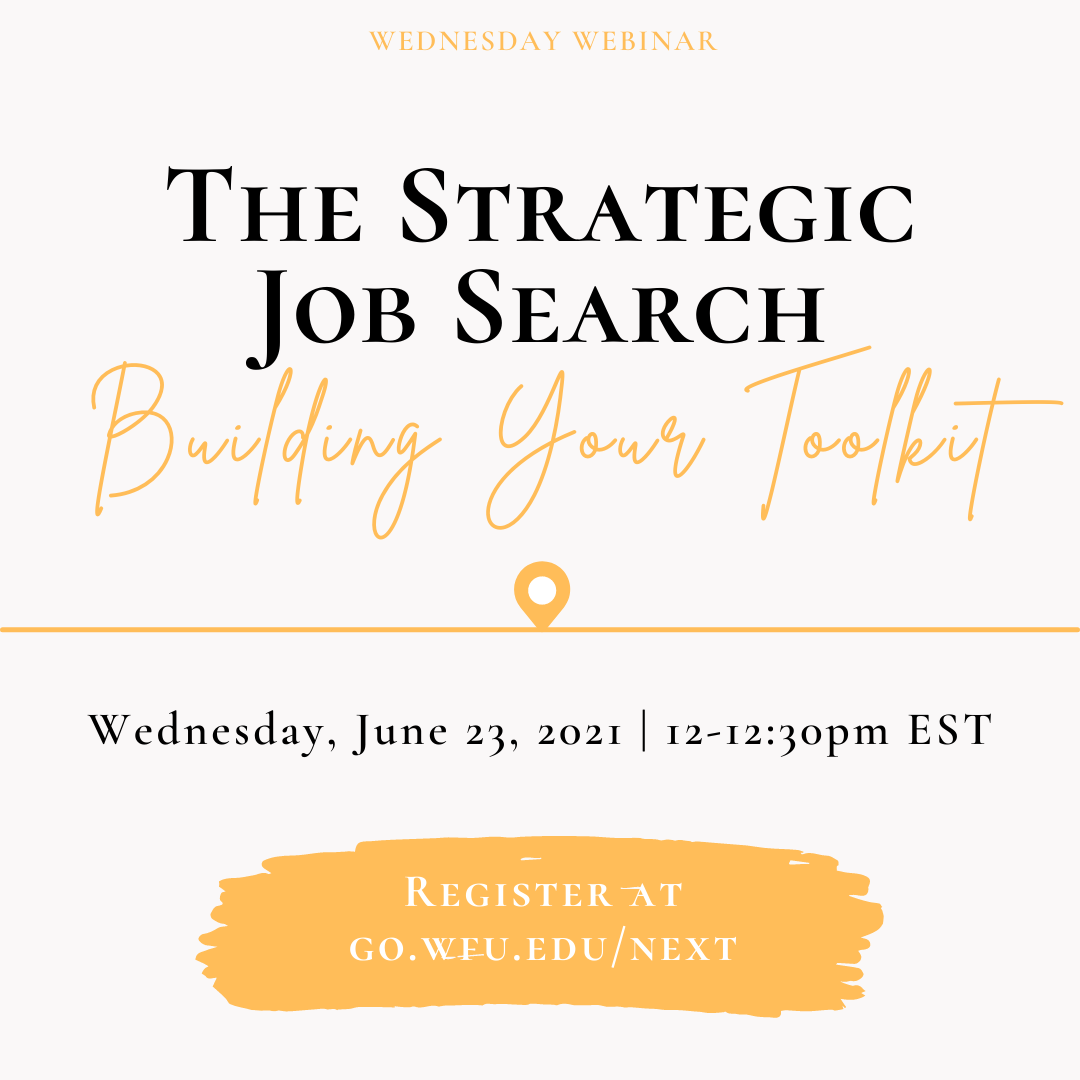 The Strategic Job Search: Building your toolkit