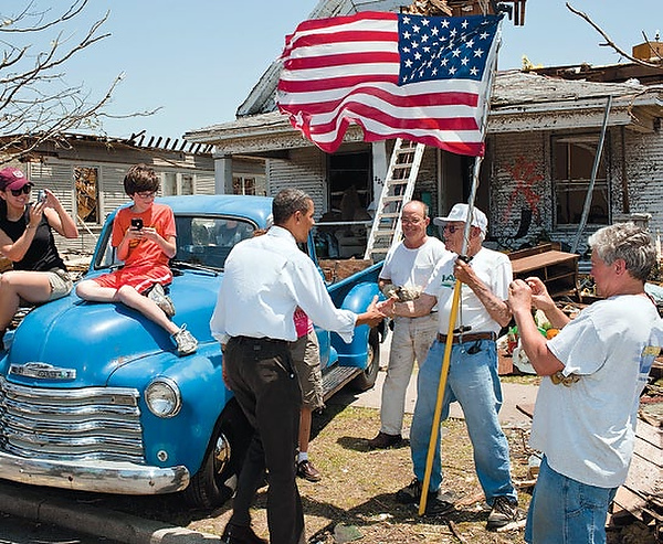 President Obama visits Joplin after the disaster