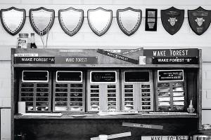 Wake Forest Debate trophy case