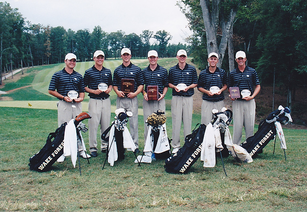 Webb Simpson on the Deacon golf team