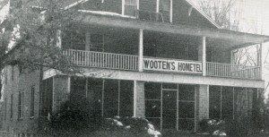 Mrs. Wooten's Hometel near the old campus