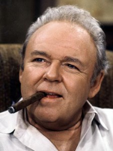 Carroll O'Connor playing Archie Bunker