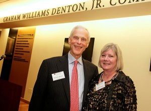 The late Graham W. Denton Jr. ('67, P '93, '97, '10) and his wife, Anne