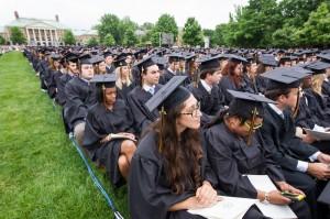 Graduates wait their turn