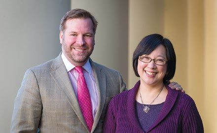 Wade Murphy and Mary Foskett, professor of religion and director of the Humanities Institute