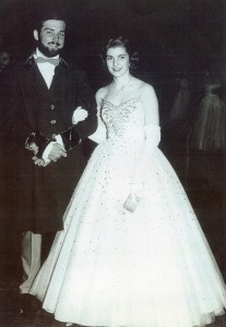 Audrey Caison and her future husband, Dewey Bridger, at a Kappa Alpha dance in 1951.