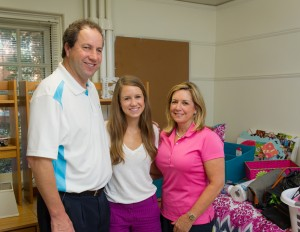 Jack ('78, JD '81) and Mary Jo ('80) Elliott and their daughter, Emily.