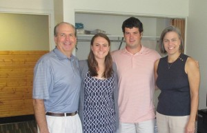Doug ('88) and Shannan ('87) Townsend with their children, Virginia and Spence.