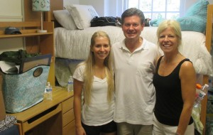 Jack Maier ('84) and Heather Maier ('84) with their daughter Catherine.