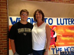 Jennifer Weatherspoon Creech ('83) and her son Alex, Class of 2017.