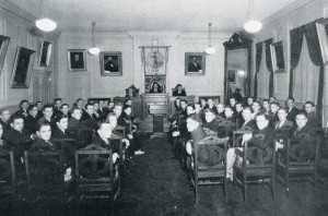 Philomathesian Society meeting hall, 1936