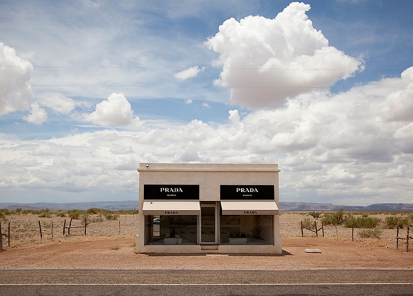 Motorists driving on U.S. 90 about 35 miles from Marfa will see the permanent land art project by artists Elmgreen & Dragset.
