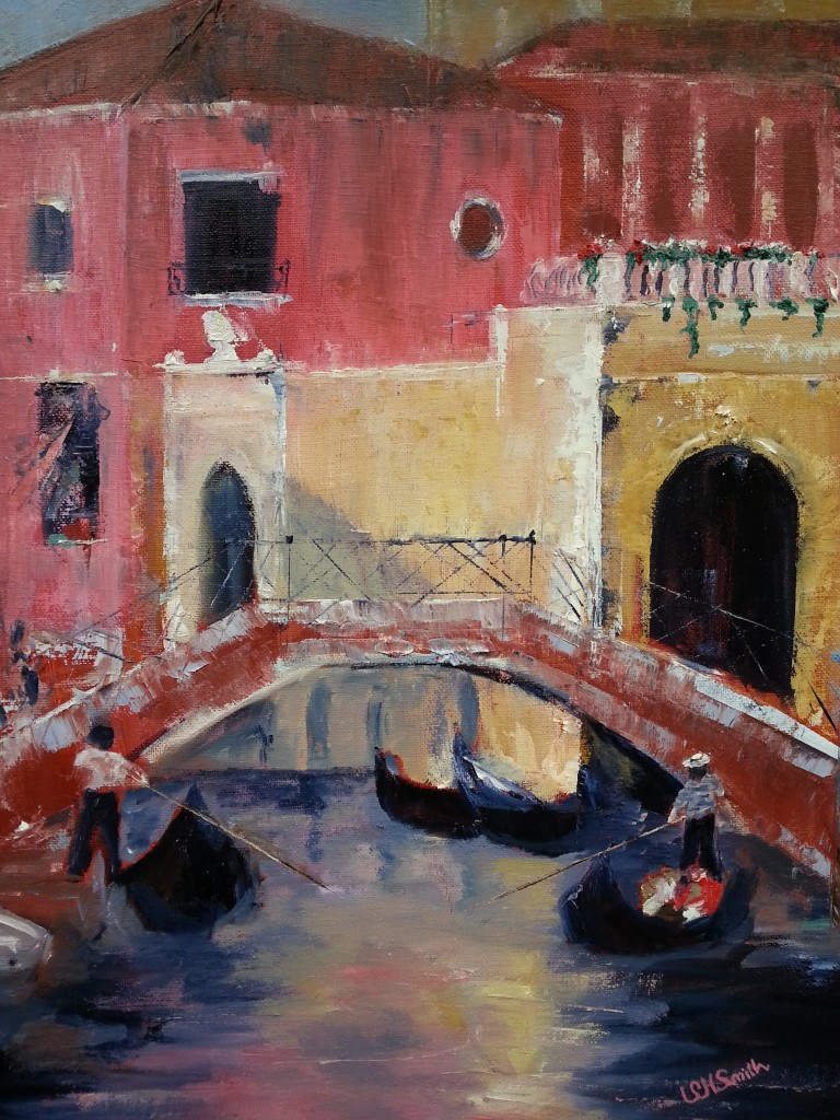 Venice-inspired oil painting by Sally Hurd Smith ('75).