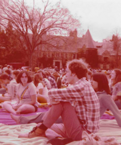Springfest '78 on the front lawn at Graylyn.