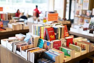 The non-profit independent bookstore uses proceeds from book sales to foster emerging writers. (Travis Dove for Wake Forest Magazine)