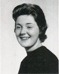 Judy Shaw Peterson's senior year portrait.