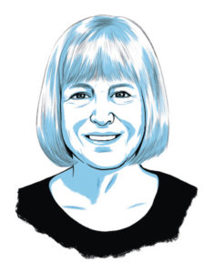 An illustration of Josephine DeYoung Thomas ('65)