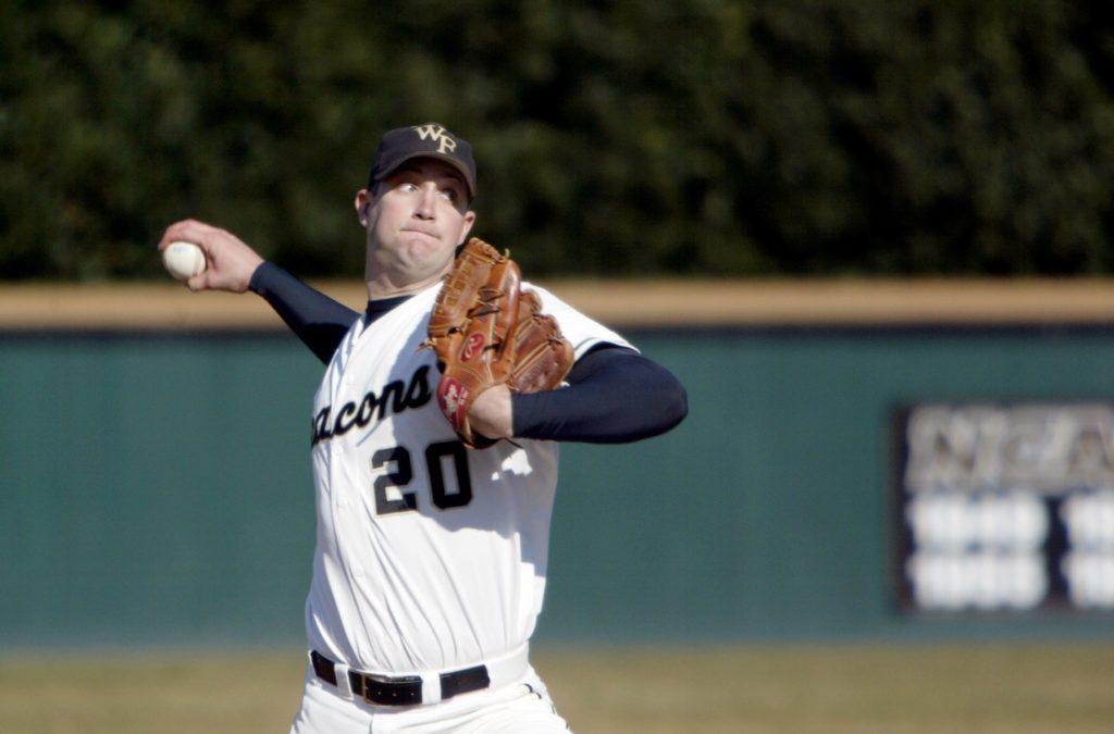 Baseball pitcher Kyle Sleeth ('01)