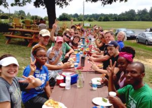 Community lunch at Peacehaven Farm