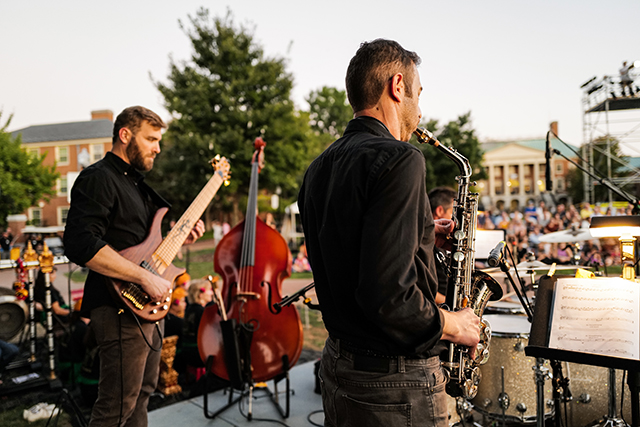 The band includes saxophone player Ali Sakkal, associate teaching professor in the Department of Education