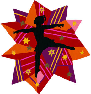 An illustration of a girl dancing