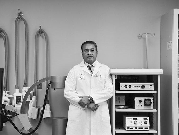 Dr. Khalique Zahir ('87) at his office