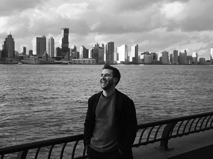 Sam Sabin ('17) at his apartment in New York, NY.